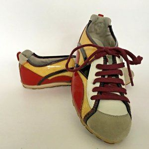 Camper Shoes US Size 7 Vinyl Upper Red Yellow